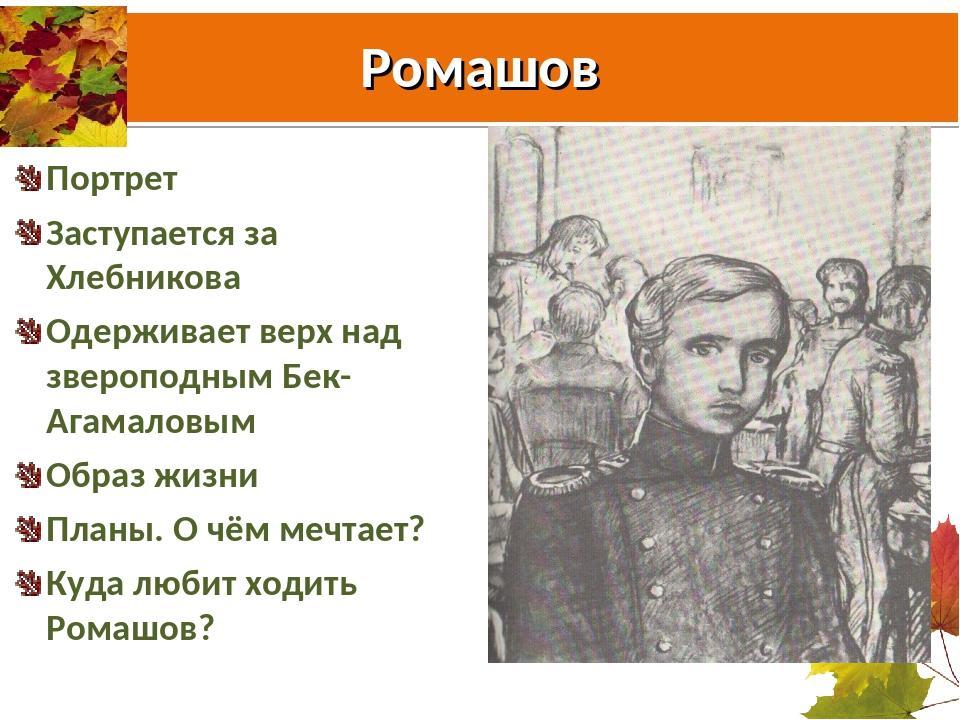 Ромашов Портрет Заступается за Хлебникова Одерживает верх над звероподным Бек...