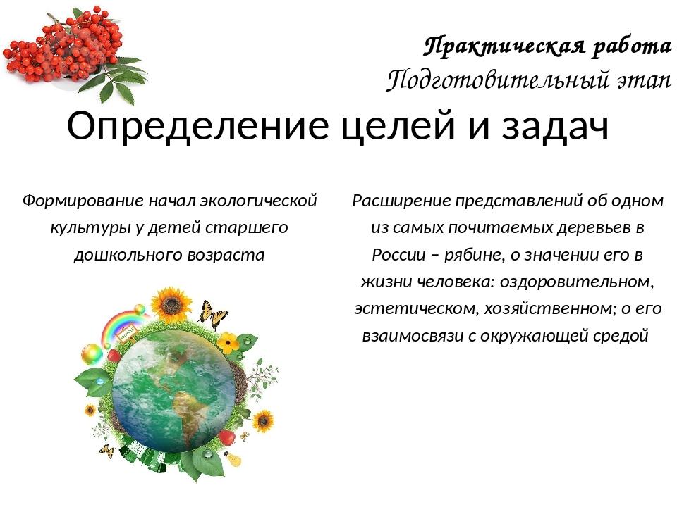 Формирование начал экологической культуры у детей старшего дошкольного возрас...