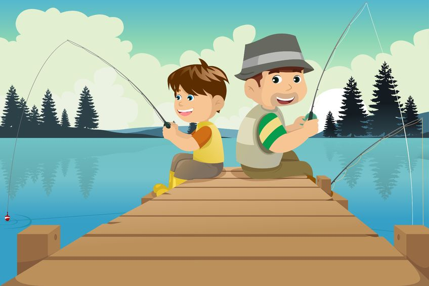 Картинки семья на рыбалке для детей
