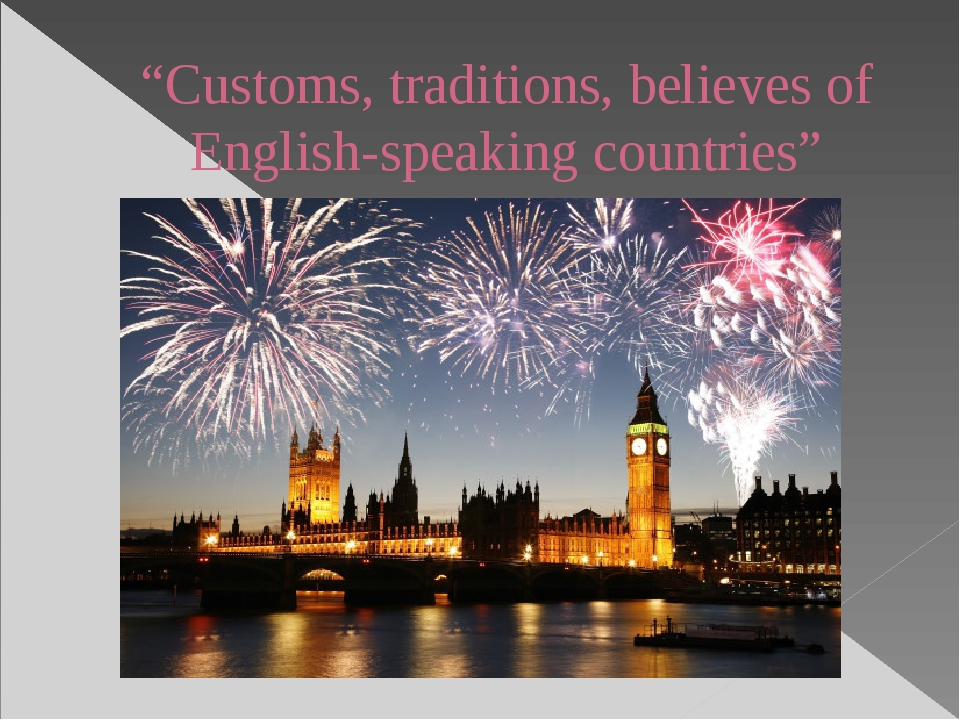 """""""Customs, traditions, believes of English-speaking countries"""""""