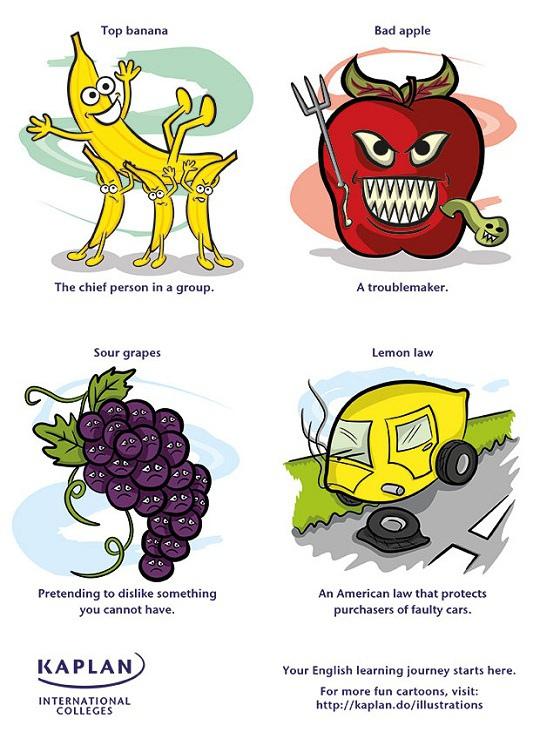 картинки с идиомами на английском вот