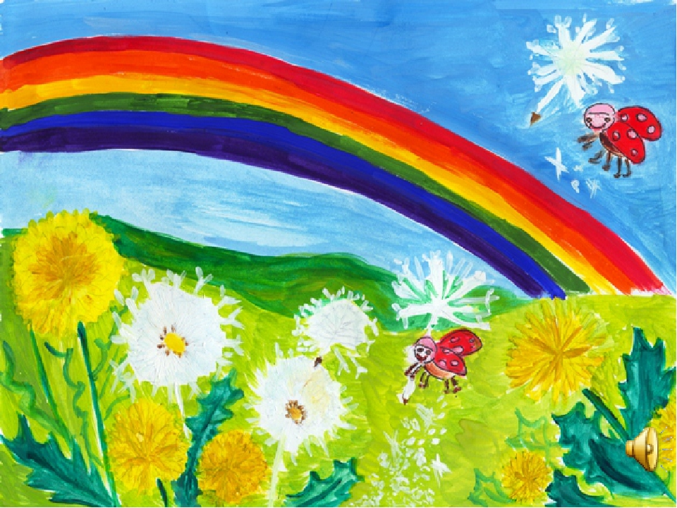 Днем строителя, рисунок на тему лето в детский сад