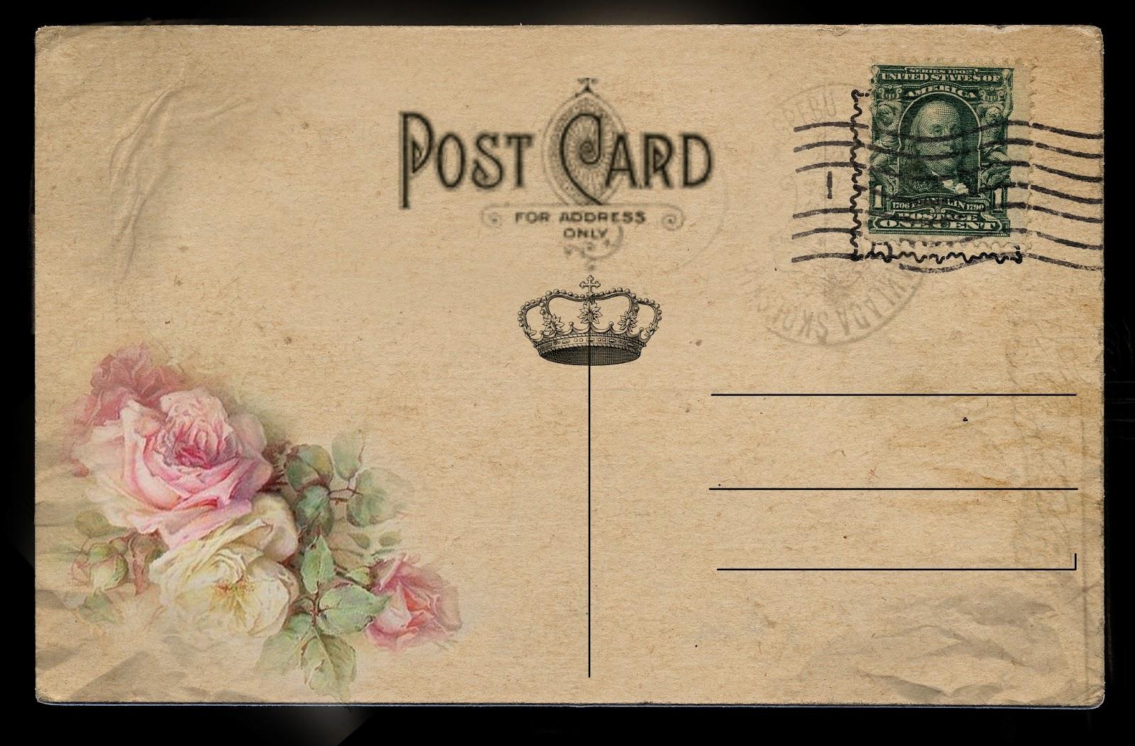 Юбилеем, рисунки на обратной стороне открытки