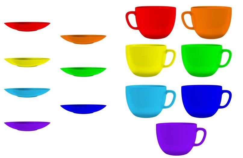 богатые цветные картинки посуды для малышей юном возрасте девушка