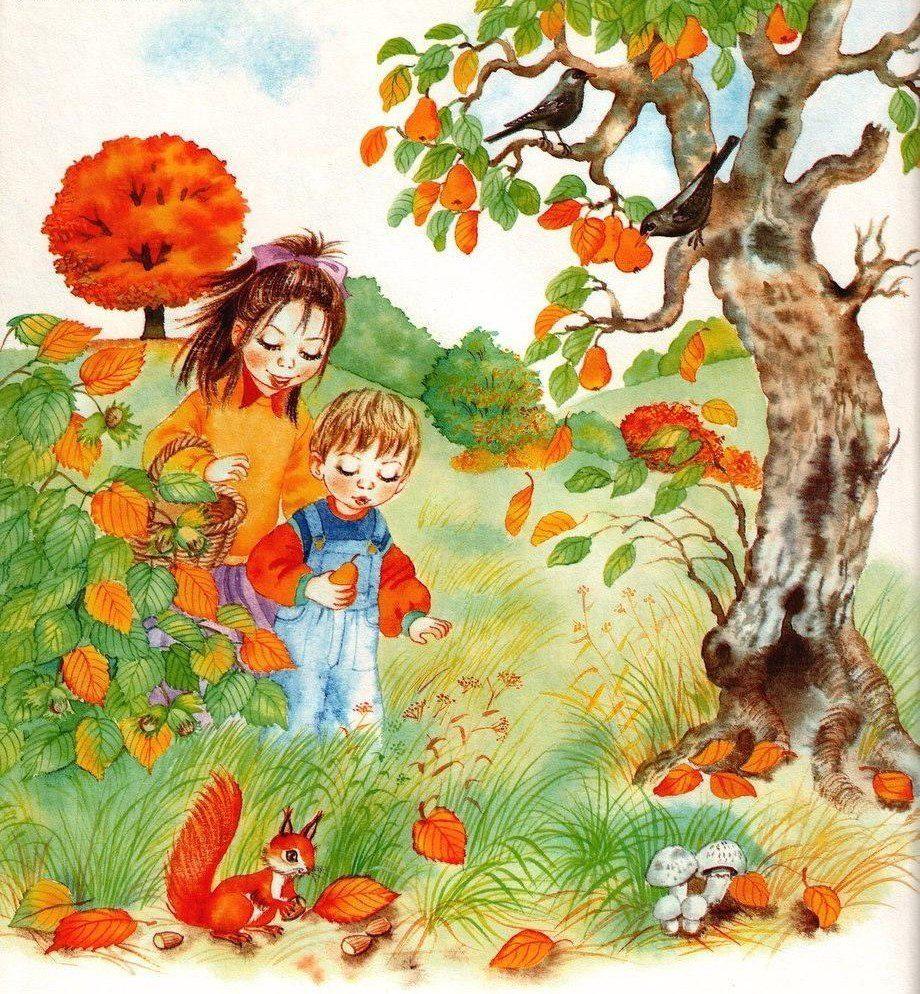 ламинат картинка про осень для малышей как будет выглядеть