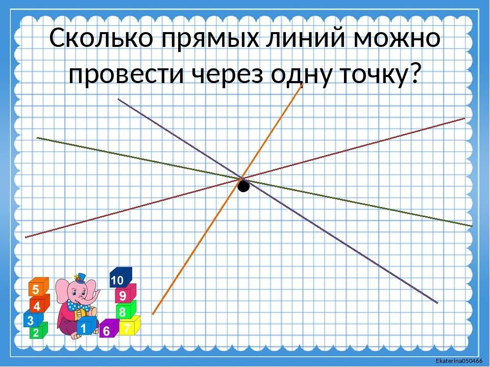 Сколько прямых линий можно провести через одну точку? . Ekaterina050466
