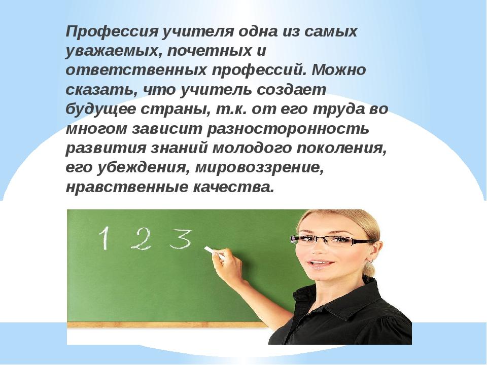 Открытка профессия учитель