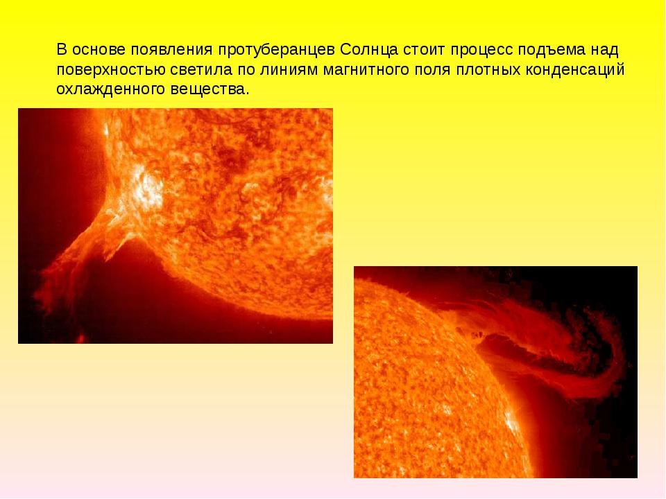В основе появления протуберанцев Солнца стоит процесс подъема над поверхность...