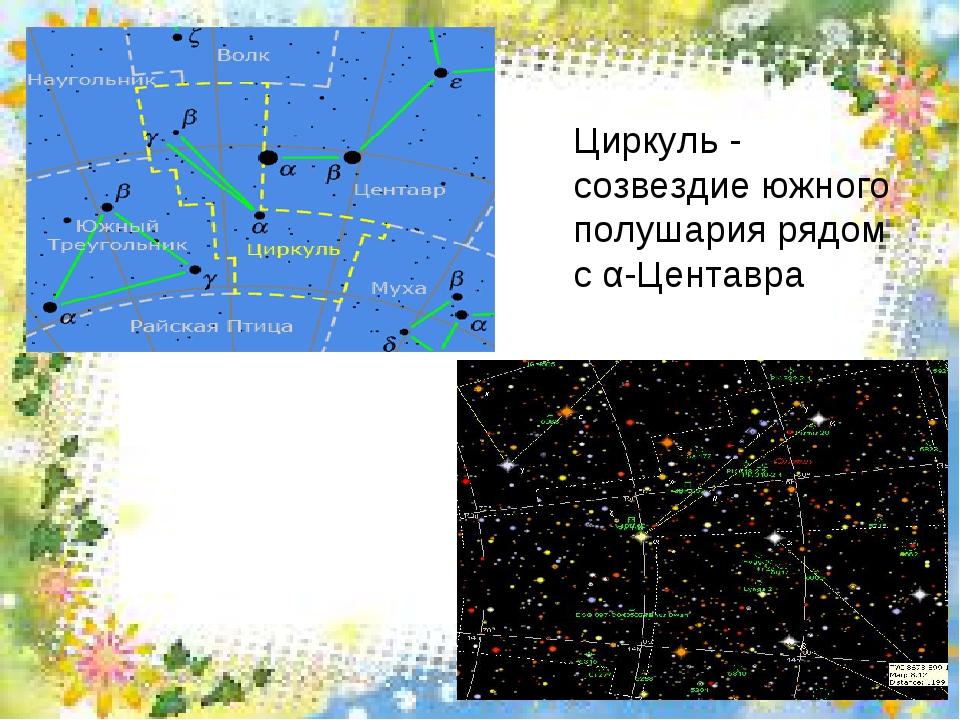 Циркуль - созвездие южного полушария рядом с α-Центавра