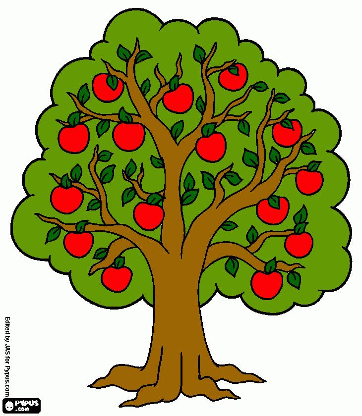 Картинки для детей яблоня с яблоками