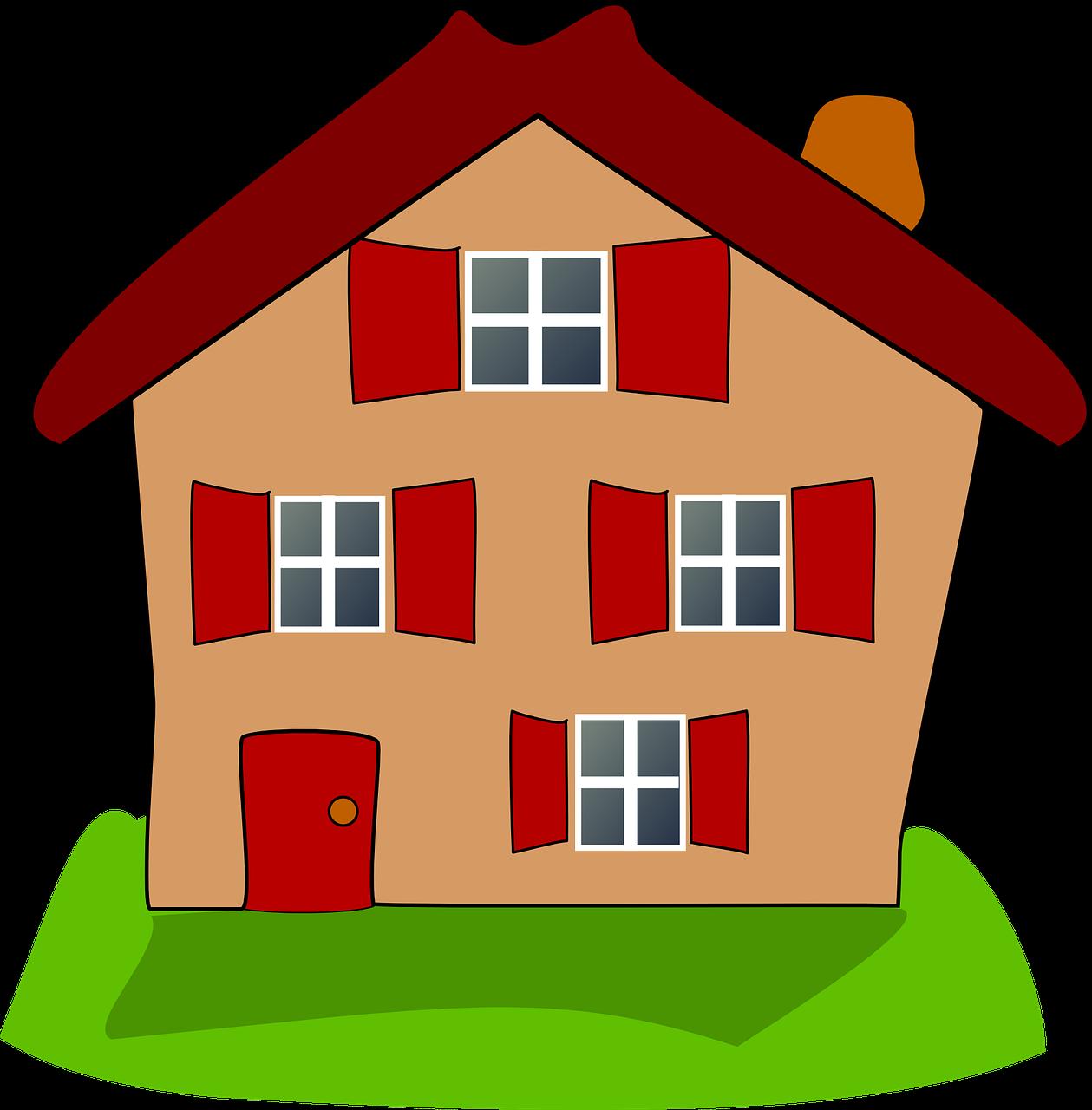 Картинка для детей дома на прозрачном фоне