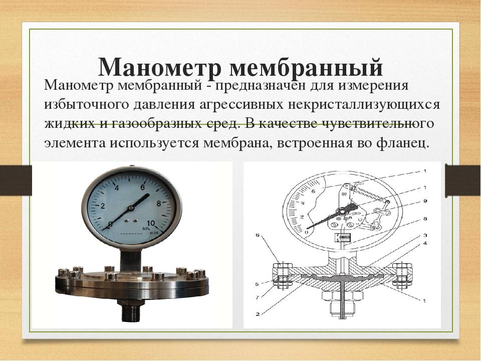 Манометр мембранный Манометр мембранный -предназначен для измерения избыточ...