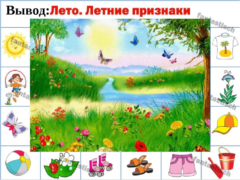 Приметы лета в картинках для детей