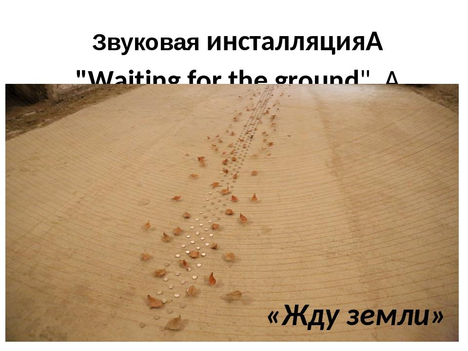 "Звуковаяинсталляция ""Waiting for the ground""  «Жду земли»"
