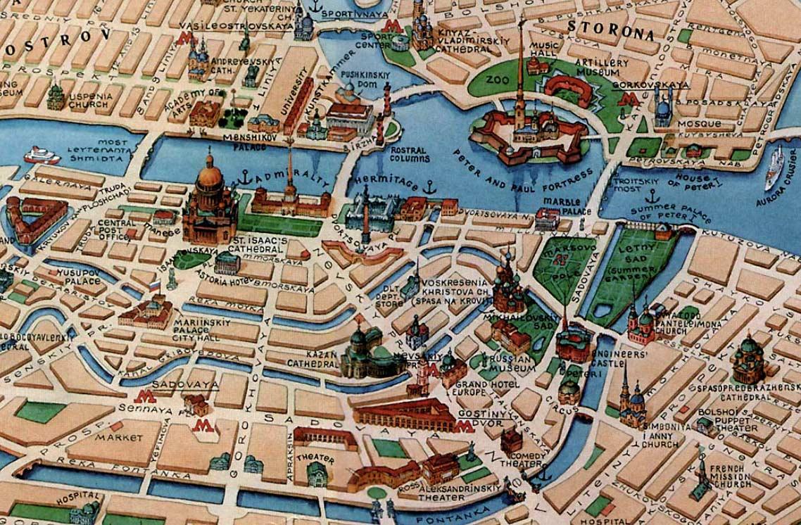 Карта санкт петербурга с фото домов