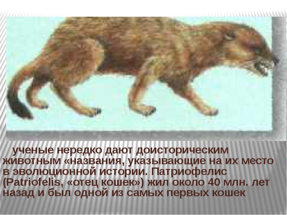 ученые нередко дают доисторическим животным «названия, указывающие на их мес...