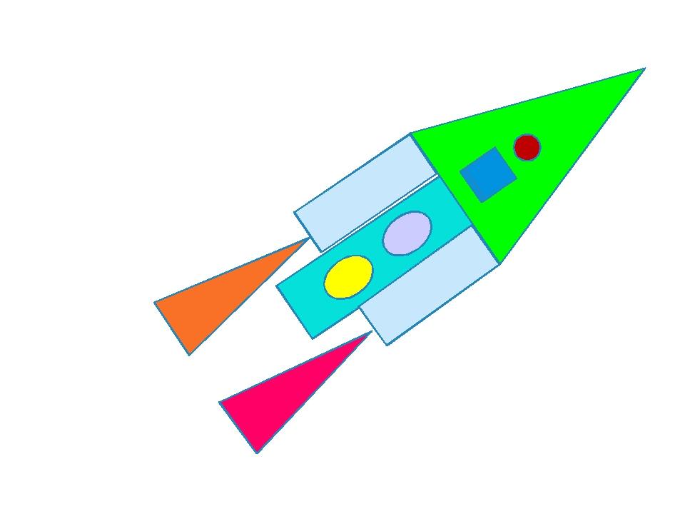 картинки с контурным изображением ракеты и самолета из геометрических фигур выбор фотографии очень