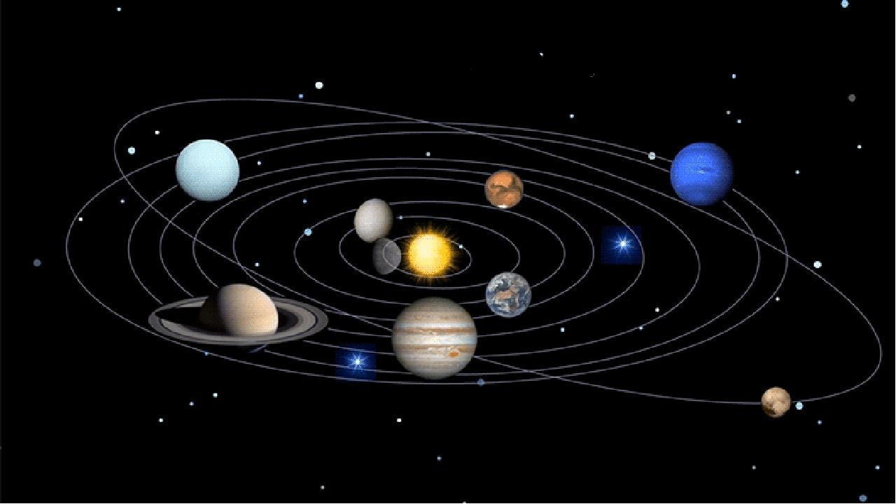 Гиф анимация солнечная система