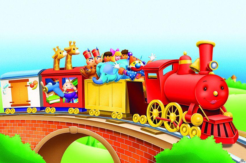 Картинки для детей веселый поезд