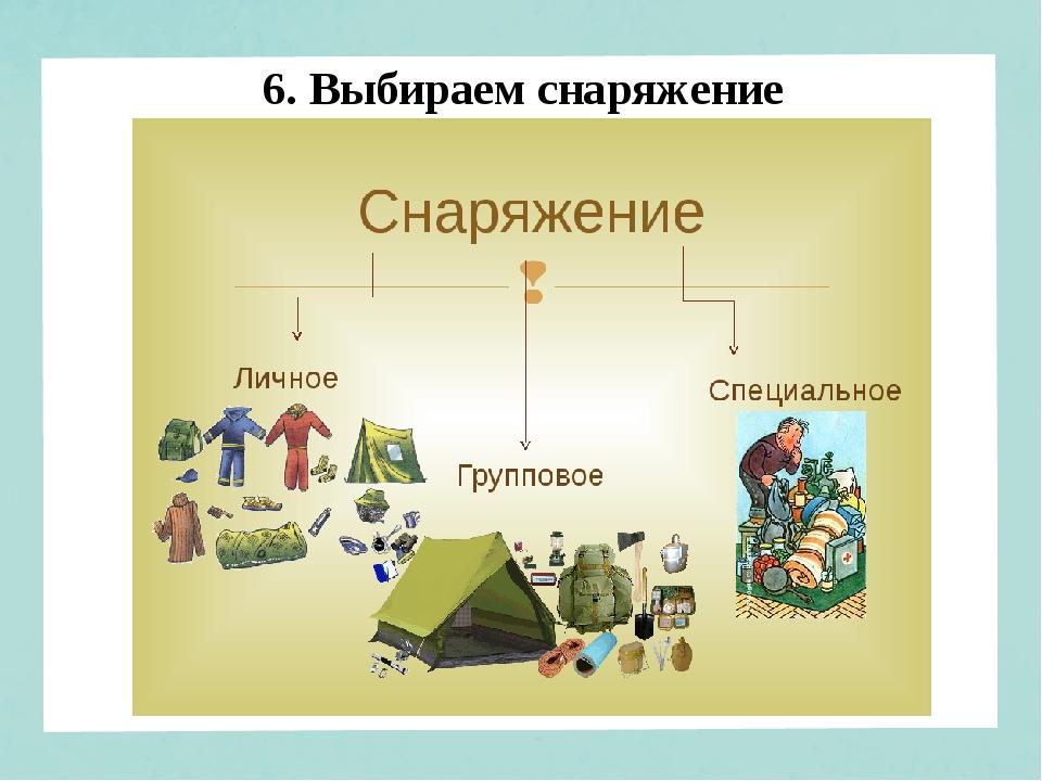 6. Выбираем снаряжение