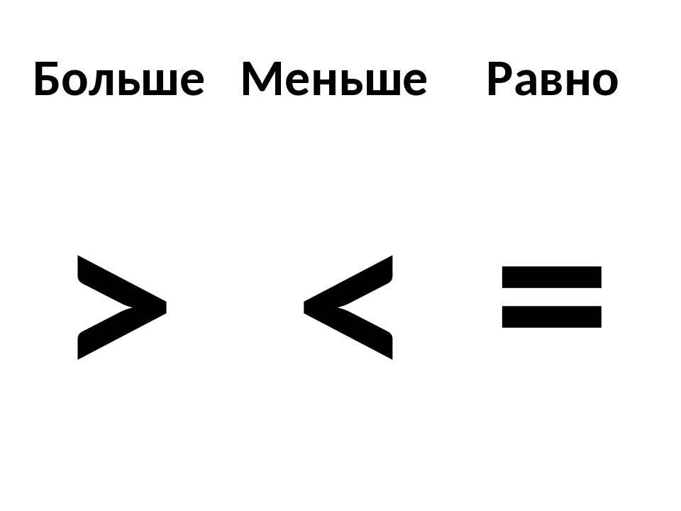 Знаки больше меньше или равно картинки