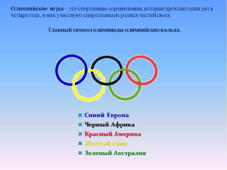 Картинки для детского сада по олимпиаде