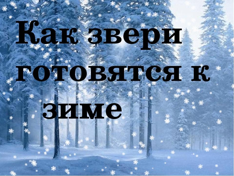 Как звери готовятся к зиме