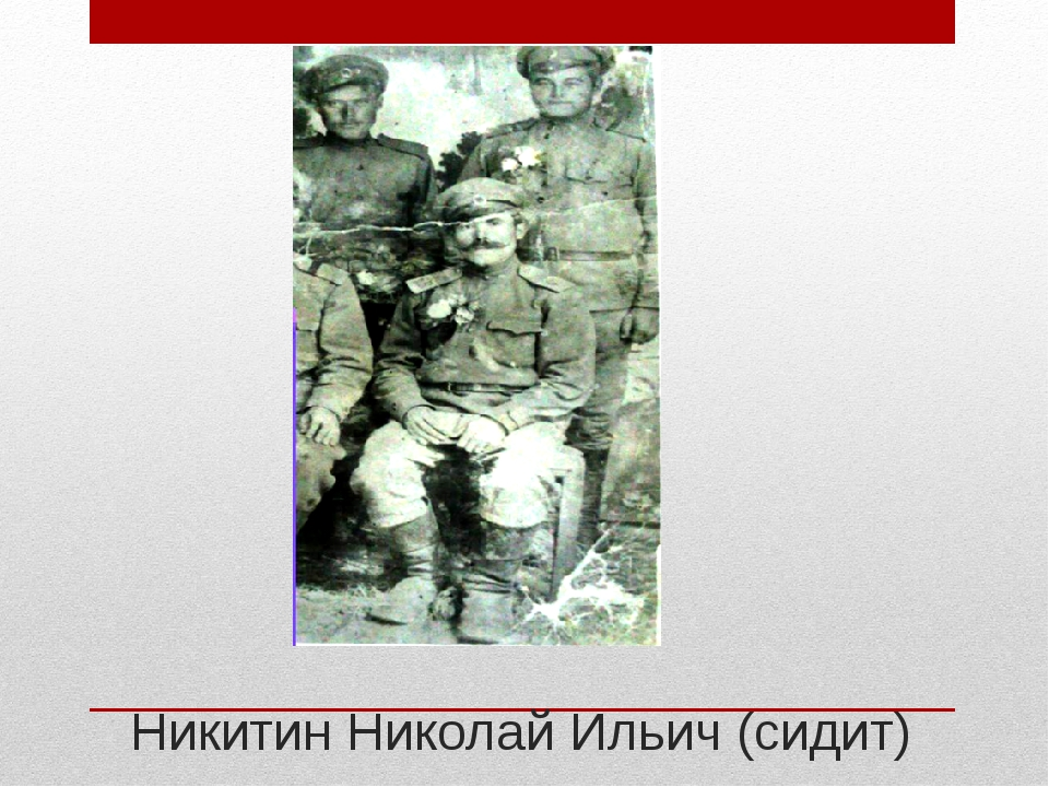 Никитин Николай Ильич (сидит)