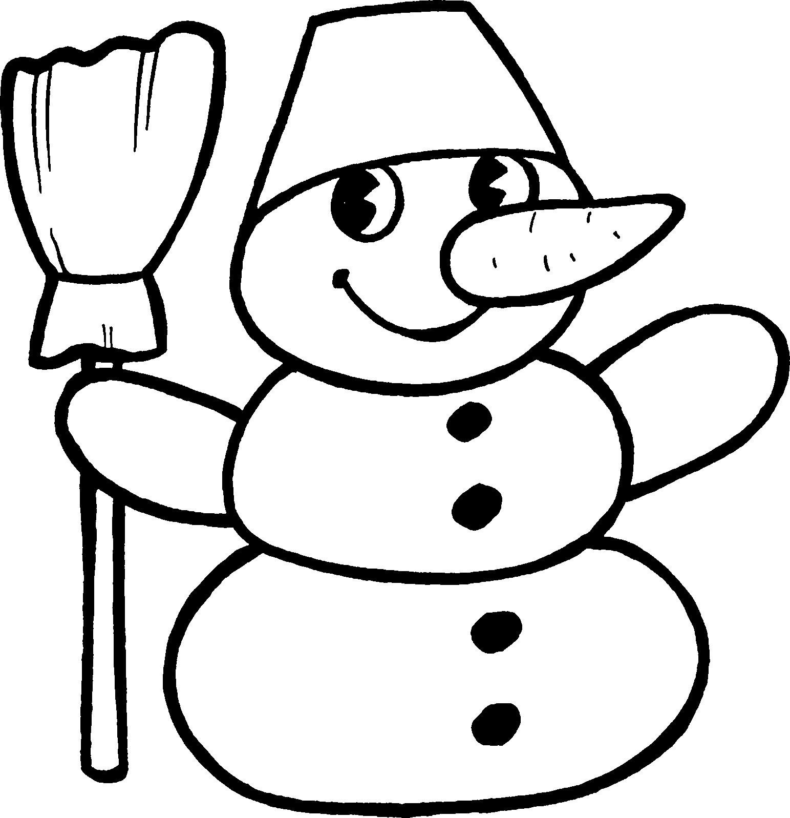 Картинка снеговик карандашом