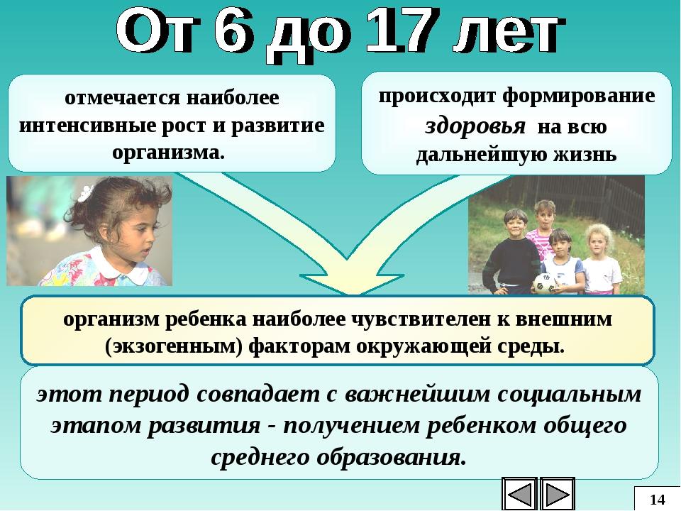 организм ребенка наиболее чувствителен к внешним (экзогенным) факторам окружа...