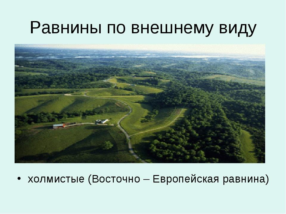 Равнины по внешнему виду холмистые (Восточно – Европейская равнина)
