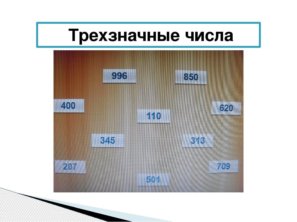 Трехзначные числа