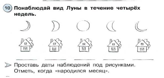Открытки день, наблюдение за луной в течение месяца в картинках 1 класс