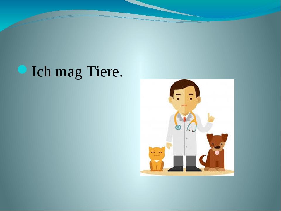 Mein Traumberuf ist Tierarzt. Ich mag Tiere.