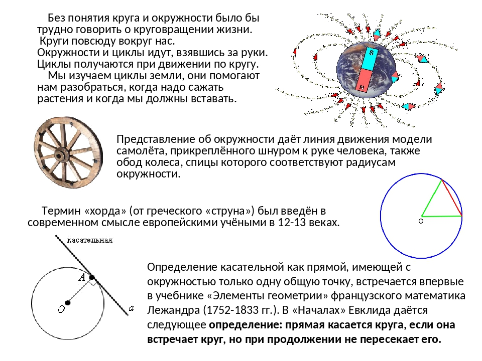 Без понятия круга и окружности было бы трудно говорить о круговращении жизни...