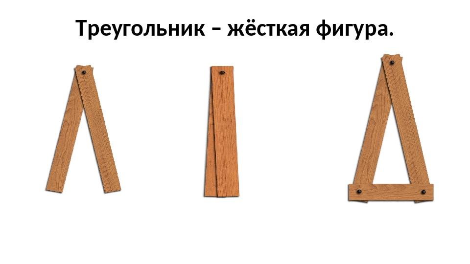 Треугольник – жёсткая фигура.
