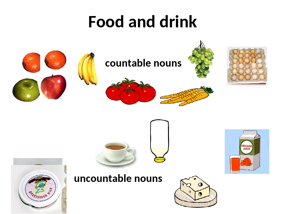 Food and drink countable nouns uncountable nouns
