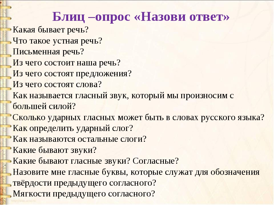 Блиц –опрос «Назови ответ» Какая бывает речь? Что такое устная речь? Письмен...