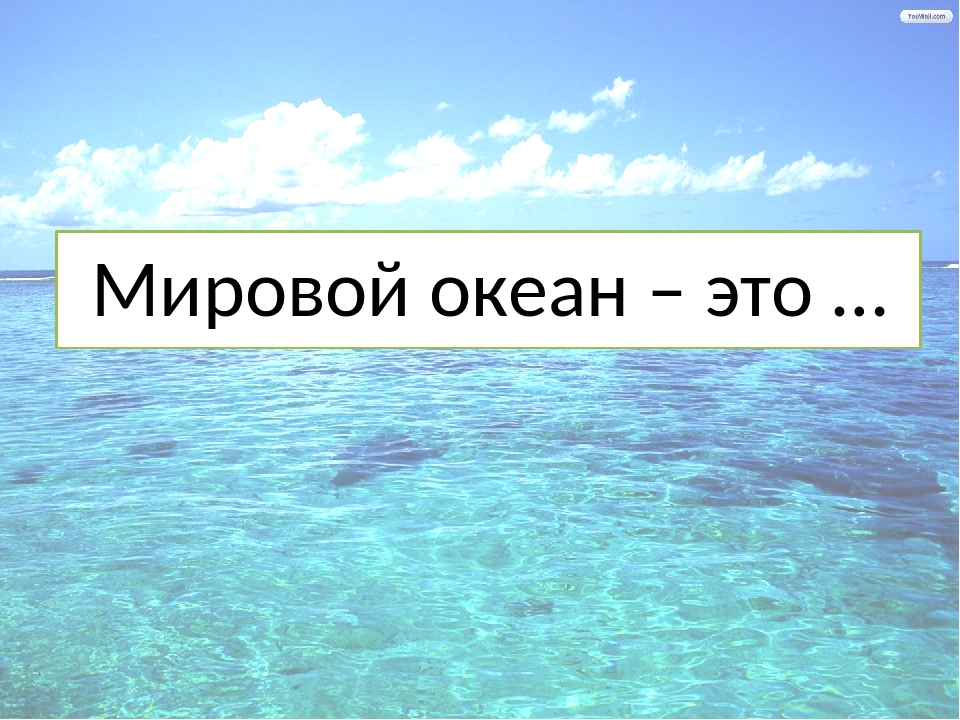 Мировой океан – это …