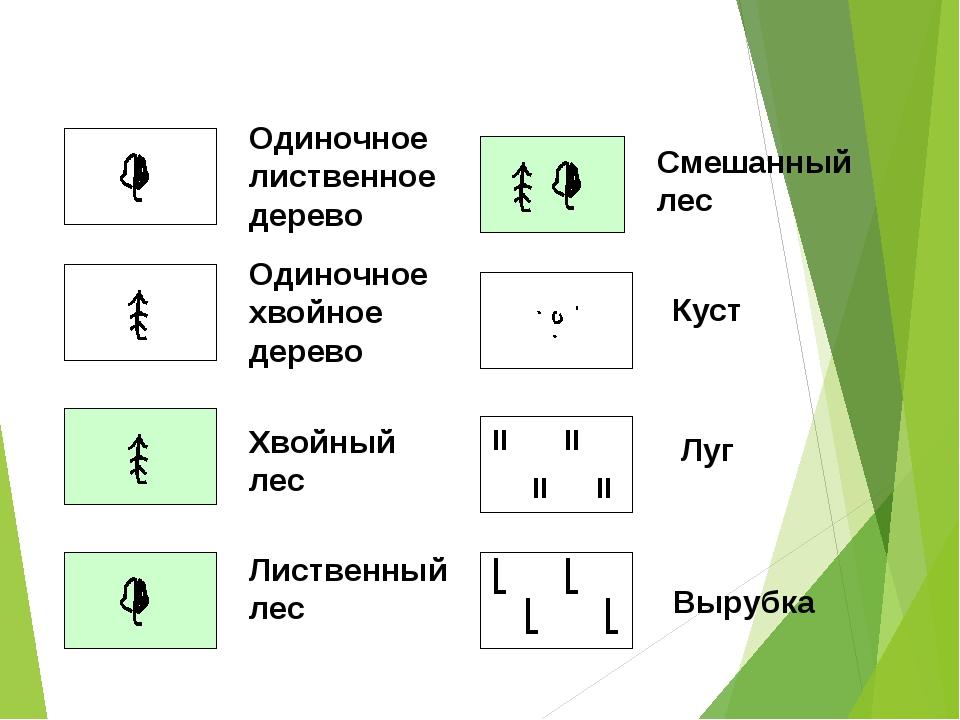 Условные знаки по одному знаку на картинке