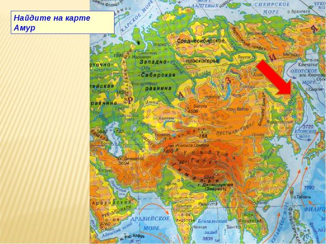 Найдите на карте Амур