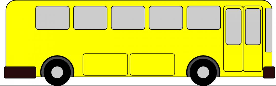 картинка автобус с флажками едет по улице мышей, которые часто