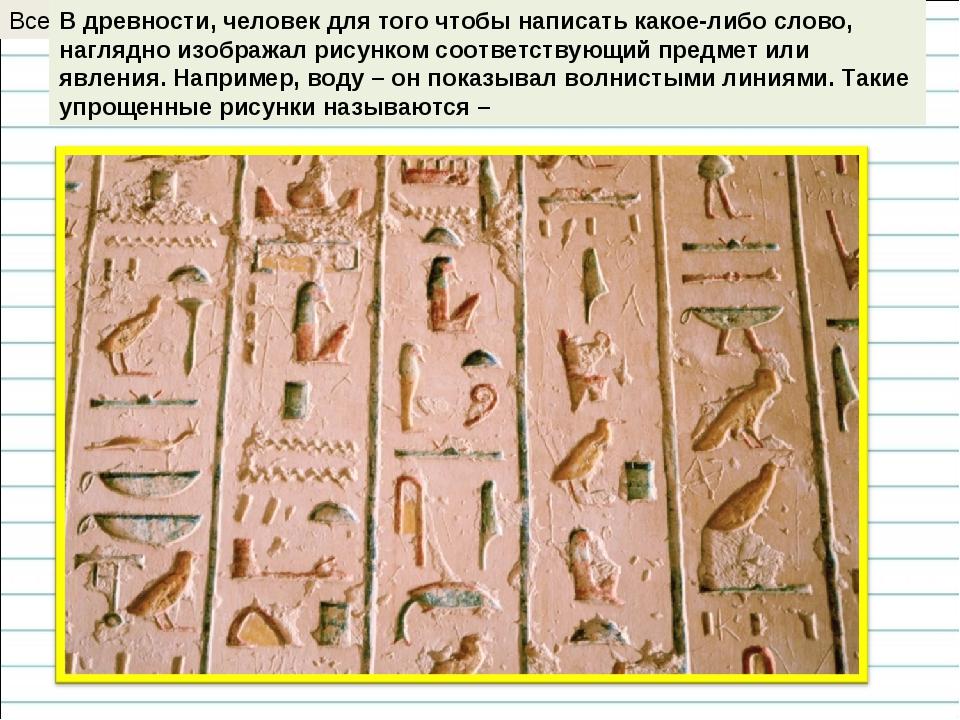 Всегда ли умел писать древний человек? В древности, человек для того чтобы на...