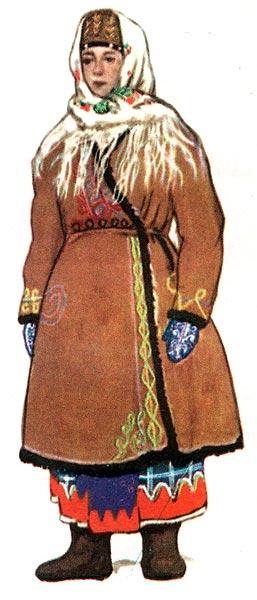 Картинки сельские жители руси в зимней одежде
