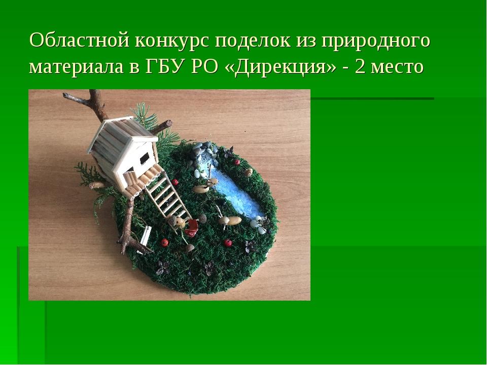 Областной конкурс поделок из природного материала в ГБУ РО «Дирекция» - 2 место