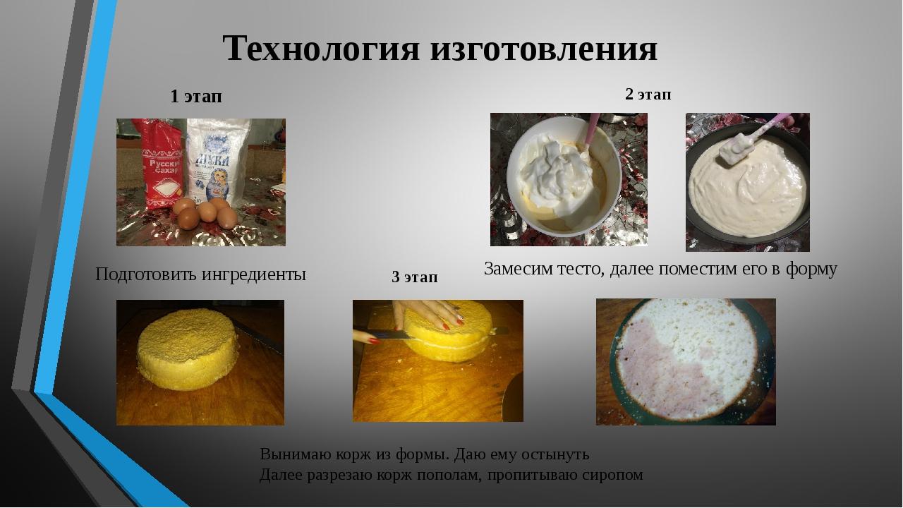 1 этап Технология изготовления  Подготовить ингредиенты Замесим тесто, далее...