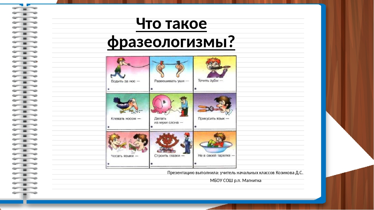 Что такое фразеологизмы? Презентацию выполнила: учитель начальных классов Коз...