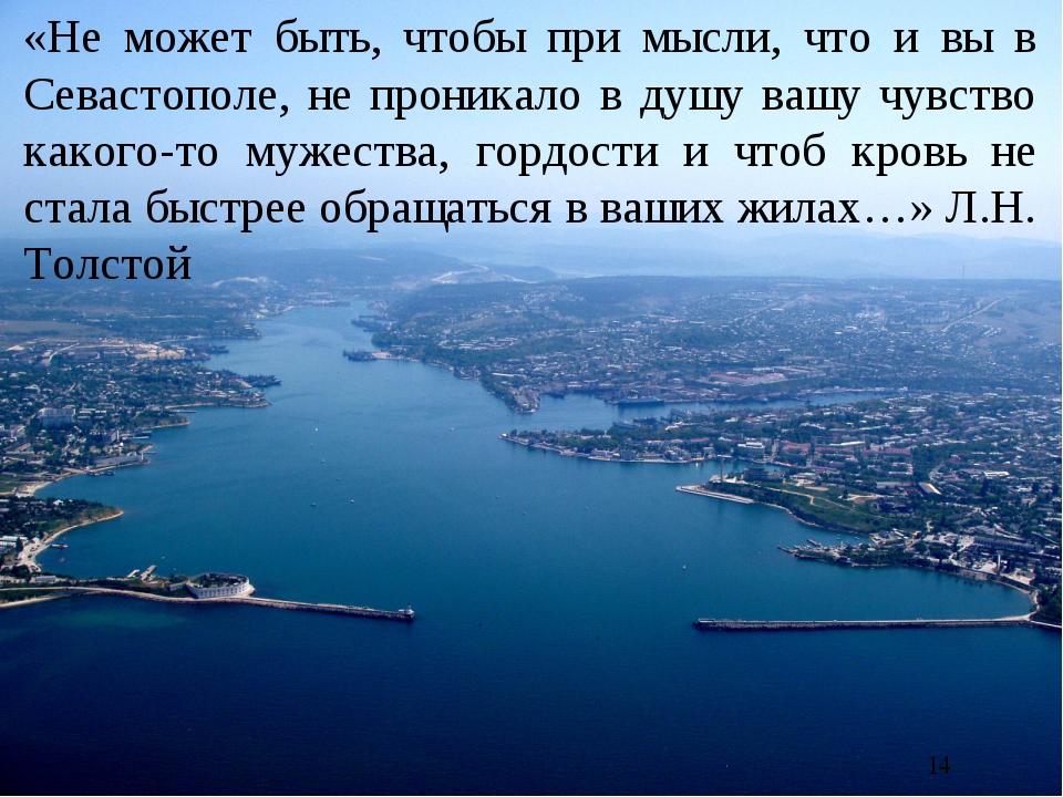 «Не может быть, чтобы при мысли, что и вы в Севастополе, не проникало в душу...