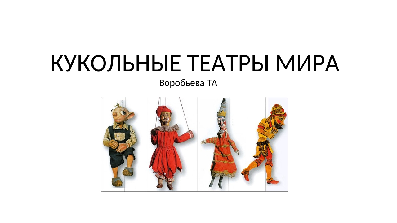 КУКОЛЬНЫЕ ТЕАТРЫ МИРА Воробьева ТА