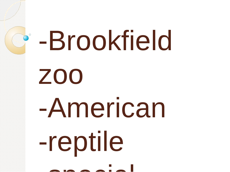 -Brookfield zoo -American -reptile -special